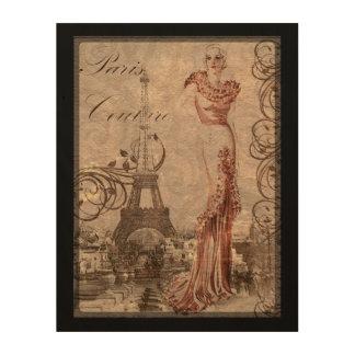 Paris Couture Woman Fashion Vintage Wall Art