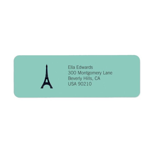 Paris Customisable Return Address Label
