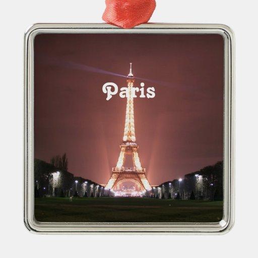 Paris Christmas Ornaments