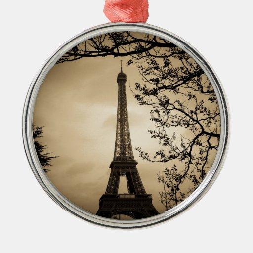 Paris Christmas Tree Ornaments