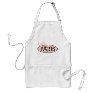Paris; Deep Peach Damask Standard Apron