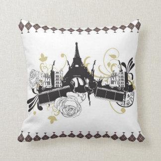 Paris Diamond Design Reversible Pillow