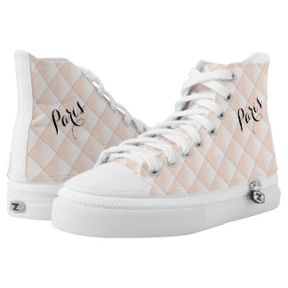 Paris Diamond  Quilted Pattern Cool High Top Shoes
