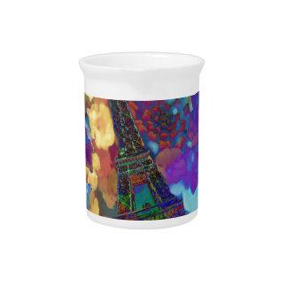 Paris dreams of flowers pitcher