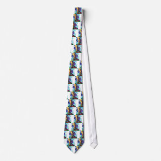 Paris dreams of flowers tie