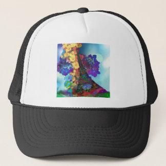 Paris dreams of flowers trucker hat