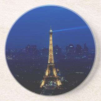 Paris Eifel Tower At Night Sandstone Coaster