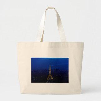 Paris Eifel Tower At Night Jumbo Tote Bag