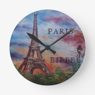 PARIS EIFFEL ROUND WALL CLOCK