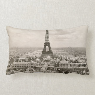Paris: Eiffel Tower, 1900 Lumbar Cushion