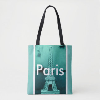 Paris Eiffel Tower All-Over-Print Tote Bag