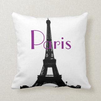 Paris Eiffel Tower American MoJo Pillow Throw Cushion