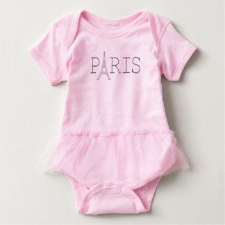 Paris Eiffel Tower baby girl's t-shirt