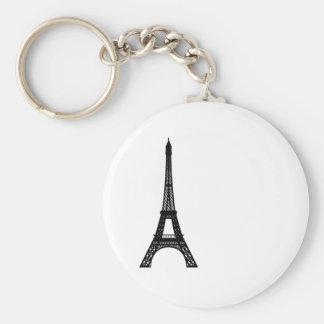 Paris Eiffel Tower Basic Round Button Key Ring