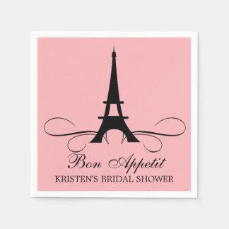 Paris Eiffel Tower   Bridal Shower Disposable Serviette