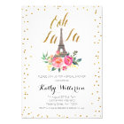Paris Eiffel Tower Bridal Shower invitation
