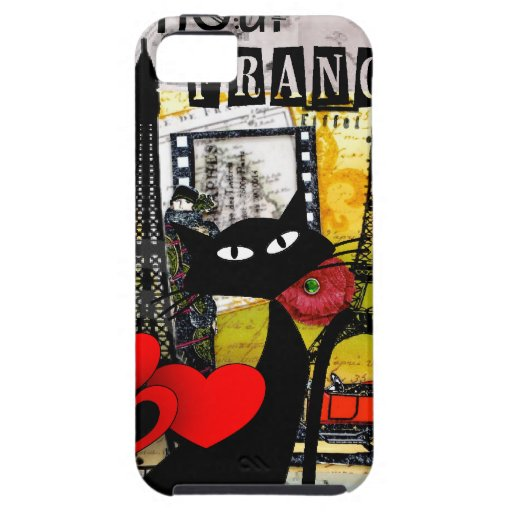 Paris Eiffel Tower Cat Lovers gifts iPhone 5 Cover