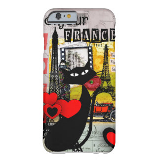 Paris Eiffel Tower Cat Lovers gifts iPhone 6 Case