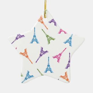 Paris Eiffel Tower Ceramic Star Decoration