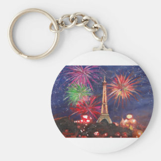 Paris Eiffel Tower City of Love with Silvester New Key Chains