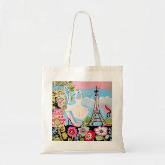 Paris Eiffel Tower Collage Bag