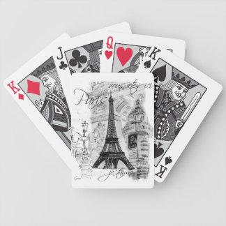 Paris Eiffel Tower Collage Poker Deck
