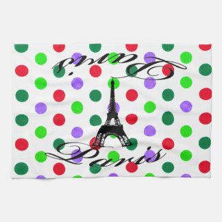 Paris Eiffel Tower Dots Tea Towel