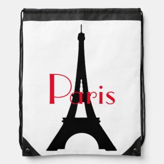 Paris Eiffel Tower Drawstring Backpack