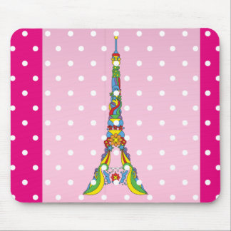 Paris Eiffel tower elegant pop stylish silhouette Mouse Pad