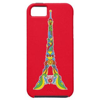 Paris Eiffel tower elegant pop stylish silhouette Tough iPhone 5 Case