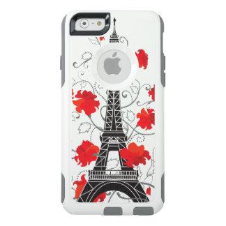 Paris Eiffel tower elegant stylish silhouette OtterBox iPhone 6/6s Case