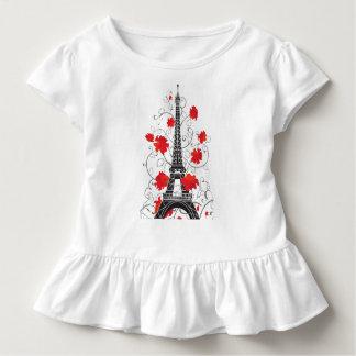 Paris Eiffel tower elegant stylish silhouette Toddler T-Shirt
