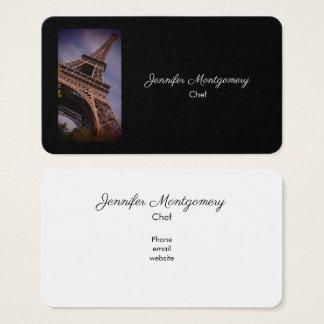Paris Eiffel Tower Famous Landmark Photo Business Card