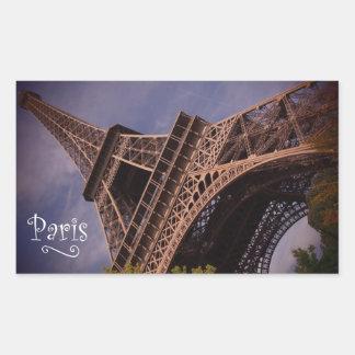 Paris Eiffel Tower Famous Landmark Photo Rectangular Sticker