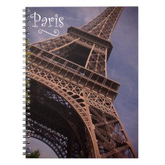 Paris Eiffel Tower Famous Landmark Photo Spiral Notebook