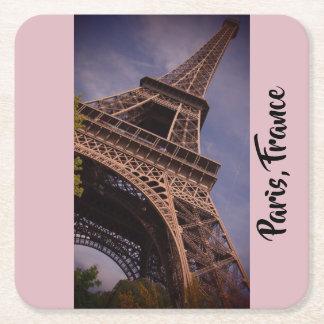 Paris Eiffel Tower Famous Landmark Photo Square Paper Coaster
