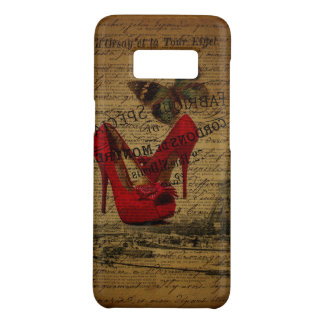 Paris eiffel tower fashionista red stilettos Case-Mate samsung galaxy s8 case