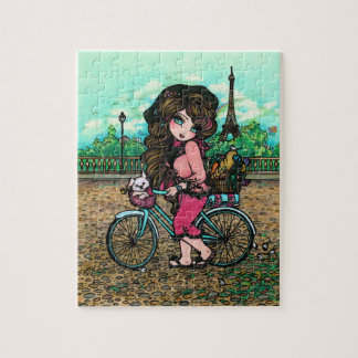 Paris Eiffel Tower French Art Puzzle Hannah Lynn