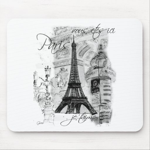 Paris Eiffel Tower French Scene Collage
