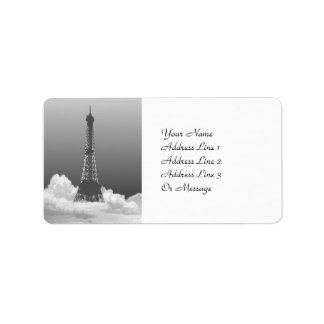 Paris Eiffel Tower Gift Tag Name Address Labels