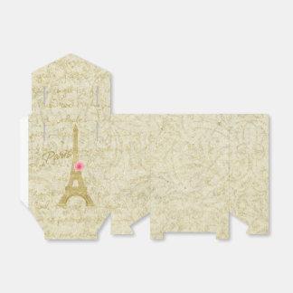 Paris Eiffel Tower Gold & Pink  Elegant Favor Favour Box