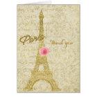 Paris Eiffel Tower Gold & Pink Glam Elegant Card