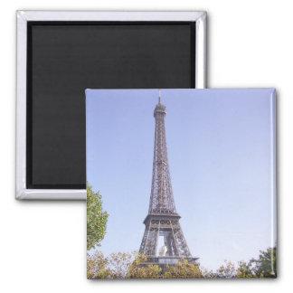 Paris Eiffel Tower greeting card Square Magnet