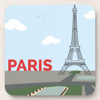 Paris Eiffel Tower Illustration Coaster