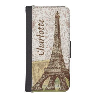 Paris Eiffel Tower iPhone Galaxy Wallet Case
