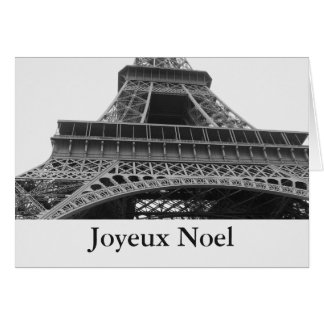 Paris Eiffel Tower Joyeux Noel Card