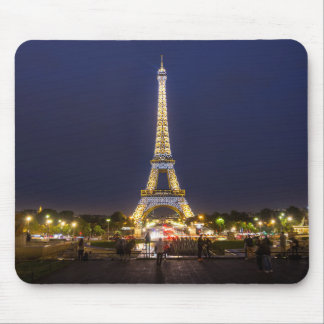 Paris Eiffel Tower Night Lights Mouse Pad