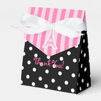 Paris Eiffel Tower Pink Birthday Party Favor Bag Favour Box