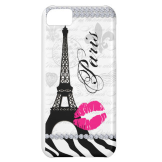 Paris Eiffel Tower Pink Lips Cell Phone Cover