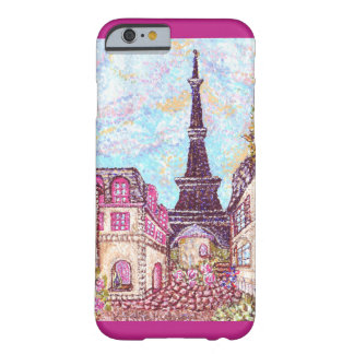 Paris Eiffel Tower pointillism iPhone 6 case